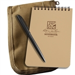 Rite in the Rain 946T-Kit All-Weather Universal Spiral Notebook Kit, Tan