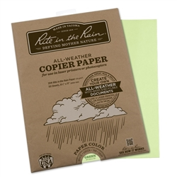 Rite in the Rain 9511-50 All-Weather Copier Paper, Green