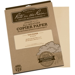 Rite in the Rain 9511T All-Weather Copier Paper, Tan