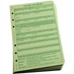 "Rite in the Rain 962 All-Weather 9 Line UXO/IED Report Loose Leaf, Green, 4 5/8"" x 7"""