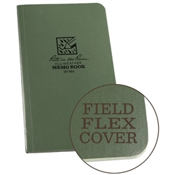 "Rite in the Rain 964 All-Weather Field-Flex Memo Book, Green, 3.5"" x 6"""