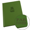 "Rite in the Rain 970F-LG All-Weather Fabrikoid Universal Book, Green, 6"" x 8"""