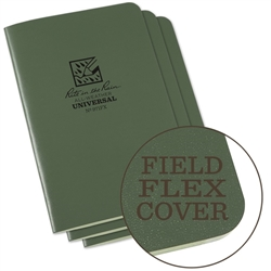 Rite in the Rain 971FX All-Weather Stapled Notebook, Universal, Green - 3 pack