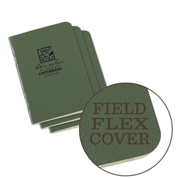 Rite in the Rain 971FX-M All-Weather Mini Stapled Notebook, Universal, Green - 3 pack