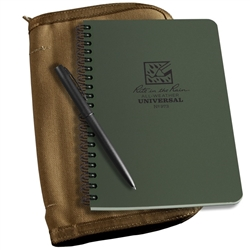Rite in the Rain 973-Kit All-Weather Universal Spiral Notebook Kit, Green/Tan