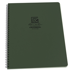 RITR 973-MX All-Weather Universal Spiral Notebook, Green