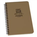 RITR 973T All-Weather Universal Spiral Notebook, Tan