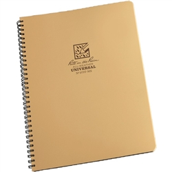 RITR 973T-MX All-Weather Universal Spiral Notebook, Tan