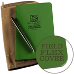 Rite in the Rain 974-Kit All-Weather Universal Field-Flex Book Kit, Green/Tan