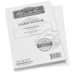Rite in the Rain HW57 All-Weather 100# Card Stock, White