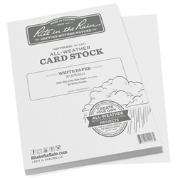 Rite in the Rain HW8511 All-Weather 100# Card Stock, White