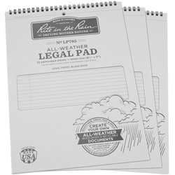 "Rite in the Rain LP785X3 All-Weather Legal Pad, Gray, 8 1/2"" x 11 7/8"", 3 pack"