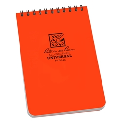 "Rite in the Rain OR46 All-Weather Universal Notebook, Blaze Orange, 4"" x 6"""