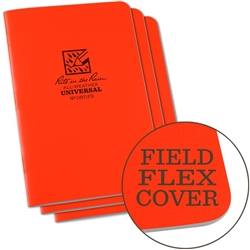 Rite in the Rain OR71FX All-Weather Universal Stapled Notebooks, Orange