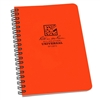 "Rite in the Rain OR73 All-Weather Universal Polydura Spiral Notebook, Orange, 4 5/8"" x 7"""