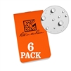 "Rite in the Rain OTGOR71 All-Weather On-The-Go Notebooks, Orange, 3 3/8"" x 2"""