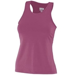 Augusta Poly/Spandex Solid Raceback Tank-GIRL'S
