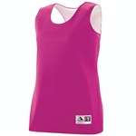 Augusta Pink Ladies Reversible Wicking Tank