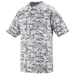 Augusta Style 1556 Youth Digi Camo Wicking Two Button Jersey
