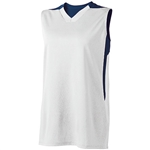 High Five Ladies White and Navy Half Court Jersey