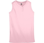 Ladies Sleeveless Two Button Softball Jersey