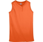 Augusta Girls Sleeveless Two-Button Softball Jersey