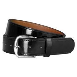 Patent Leather Baseball Belt
