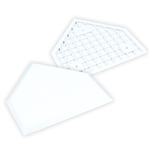 Champro White Molded Rubber Home Plate Retail Box