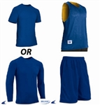 Champro Tricot Basketball Jersey Package (3 items) - Custom 1 Color Print