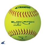 "Champro ASA 12"" Slow Pitch- Leather Cover .52 COR"