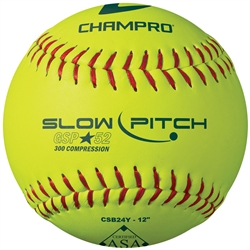 "Champro ASA 12"" Slow Pitch- Durahide Cover .52 COR"