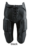 Martin Black Adult Integrated Dazzle Football Pants