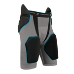 Champro Charcoal and Black Tri-Flex 5 pad Integrated Girdle
