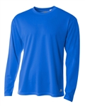 A4 Style N3253 - Men's Long Sleeve Crew Birds Eye Mesh Tee