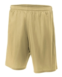 "A4 Style N5296 - 9"" Lined Tricot Mesh Short"