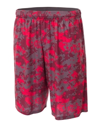 A4 Printed Camouflage Performance Muscle Shorts