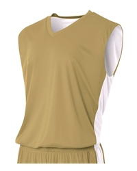 A4 Reversible Moisture Management Muscle V-Neck Jersey-YOUTH
