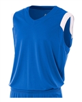A4 Moisture Management V-Neck Muscle Jersey- YOUTH