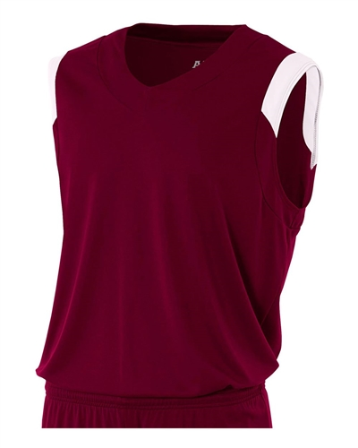 7217a7fa230 A4 Moisture Management V-Neck Muscle Jersey- YOUTH