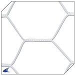 Champro Braided Soccer Goal Net 4.0 MM Hexagon Pattern (White Only)