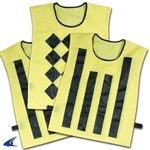 Champro Sideline Official Pinnies (Set Of 3, 1 Diamond/2 Striped