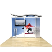 10ft Timberline Monitor Display with Straight Fabric Sides