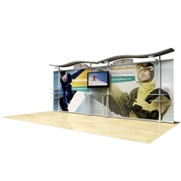 20ft Timberline Hybrid Display with Straight Fabric Sides