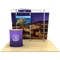 10ft Timberline Monitor Display with Tapered Fabric Sides and Counter
