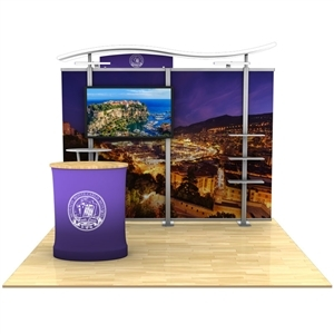 10ft Timberline Monitor Display with Straight Fabric Sides and Counter