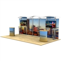 20ft Timberline Monitor Display with Straight Sides and Counter