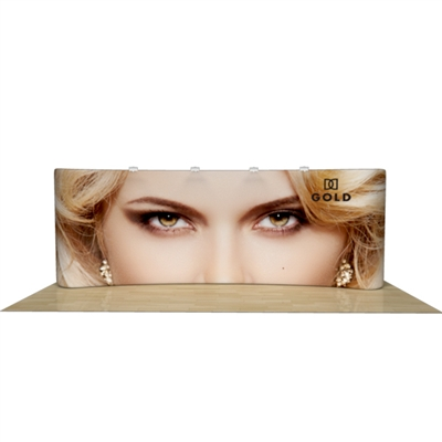 20ft Curved Wave Tube Display with Two Sided Graphic