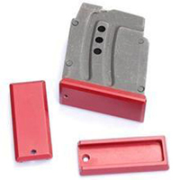 DIP DP-19055-Red Aluminum Floorplate for Steel Magazine