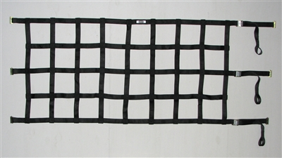 Heavy Duty Cargo Net with Spring E-Fittings & Cam Buckles