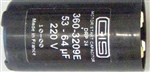 Stanley Capacitor 53-64 MFD Stanley 1/3 & 1/2 HP 24858